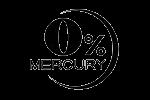 0% mercury